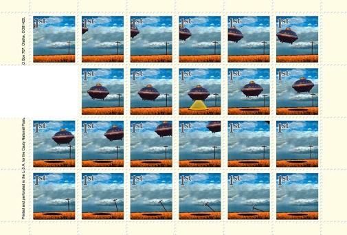 James Cauty Stamps of Mass Destruction CNPD UFO 36