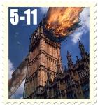 James Cauty Stamps of Mass Destruction Big Ben Guy Fawkes