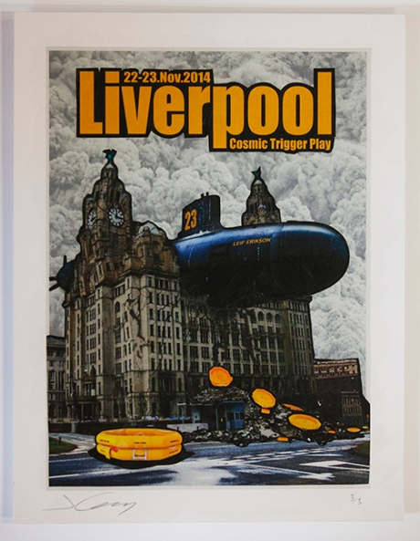 James Cauty Cosmic Trigger Play Liverpool Poster CTP A3 1 montage