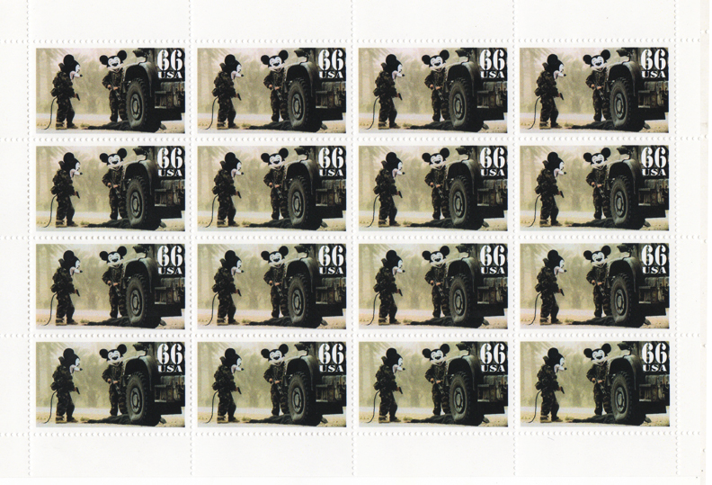 James Cauty Stamps of Mass Destruction Operation Magic Kingdom Mickey Mouse dd 1