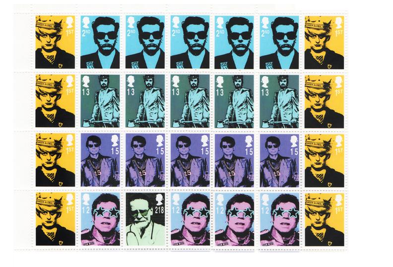 James Cauty Stamps of Mass Destruction Mass murderers mm