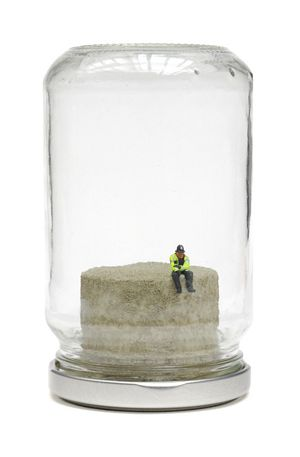 James Cauty Riot In A Jam Jar do plastic policemen dream of model railways DSC_3381_tn