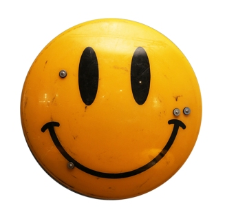 James Cauty Smiley Riot Shield SRS X WHITE