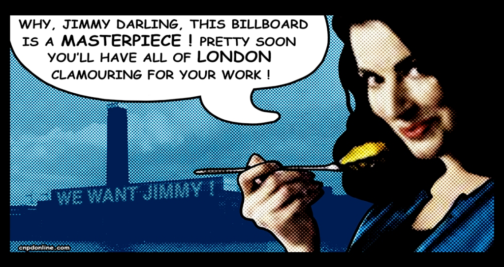 James Cauty Nigella Lawson billboard MASTERPIECE 1