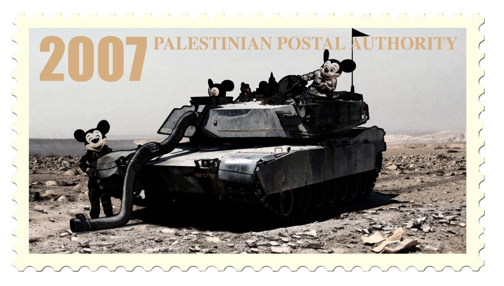 James Cauty Mickey Mouse Operation Iraqi Freedom Palestinian Postal Authority