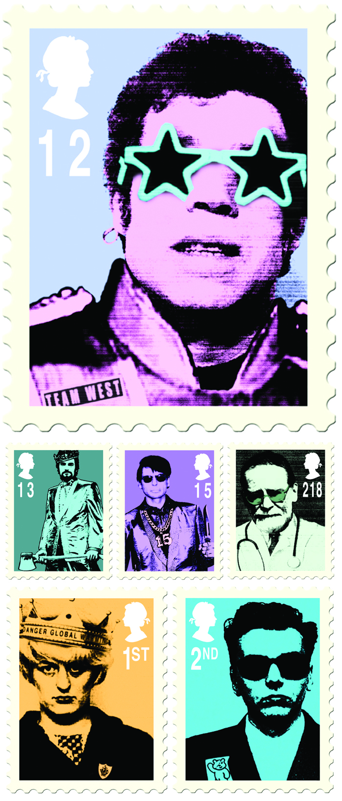 James Cauty Mass Murderer Stamps